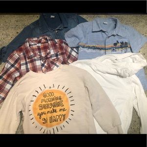 Variety of Boys size 5T tops